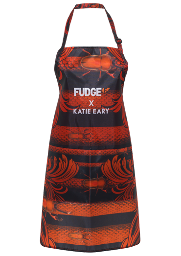 Katie Eary apron for Fudge Professional